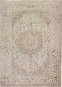 Large Oversized Ivory Background Persian Tabriz Carpet 47259 Nazmiyal