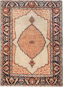 Small Antique Persian Tabriz Scatter Size Carpet 47482 Nazmiyal