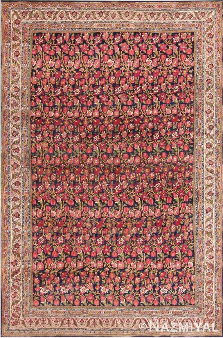 Antique Blue Background All Over Design Persian Bidjar Carpet 47411 Nazmiyal