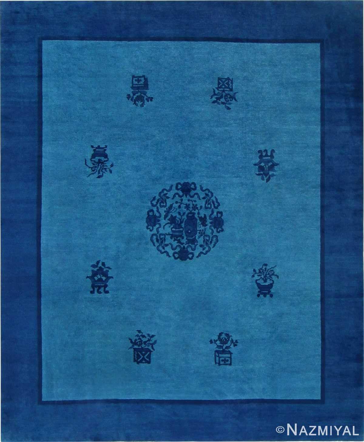 Antique Blue Chinese Carpet 47385 Detail/Large View