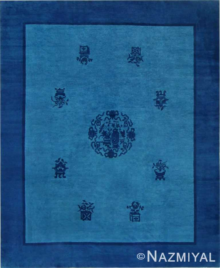 Antique Blue Chinese Carpet 47385 Detail/Large View