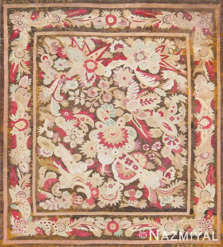 Antique French Aubusson Carpet 47526 Detail/Large View