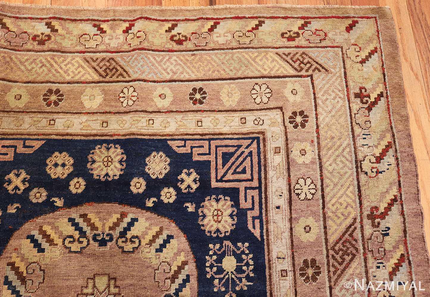 antique khotan rug 47498 corner Nazmiyal
