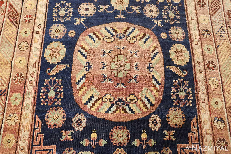 antique khotan rug 47498 medallion Nazmiyal