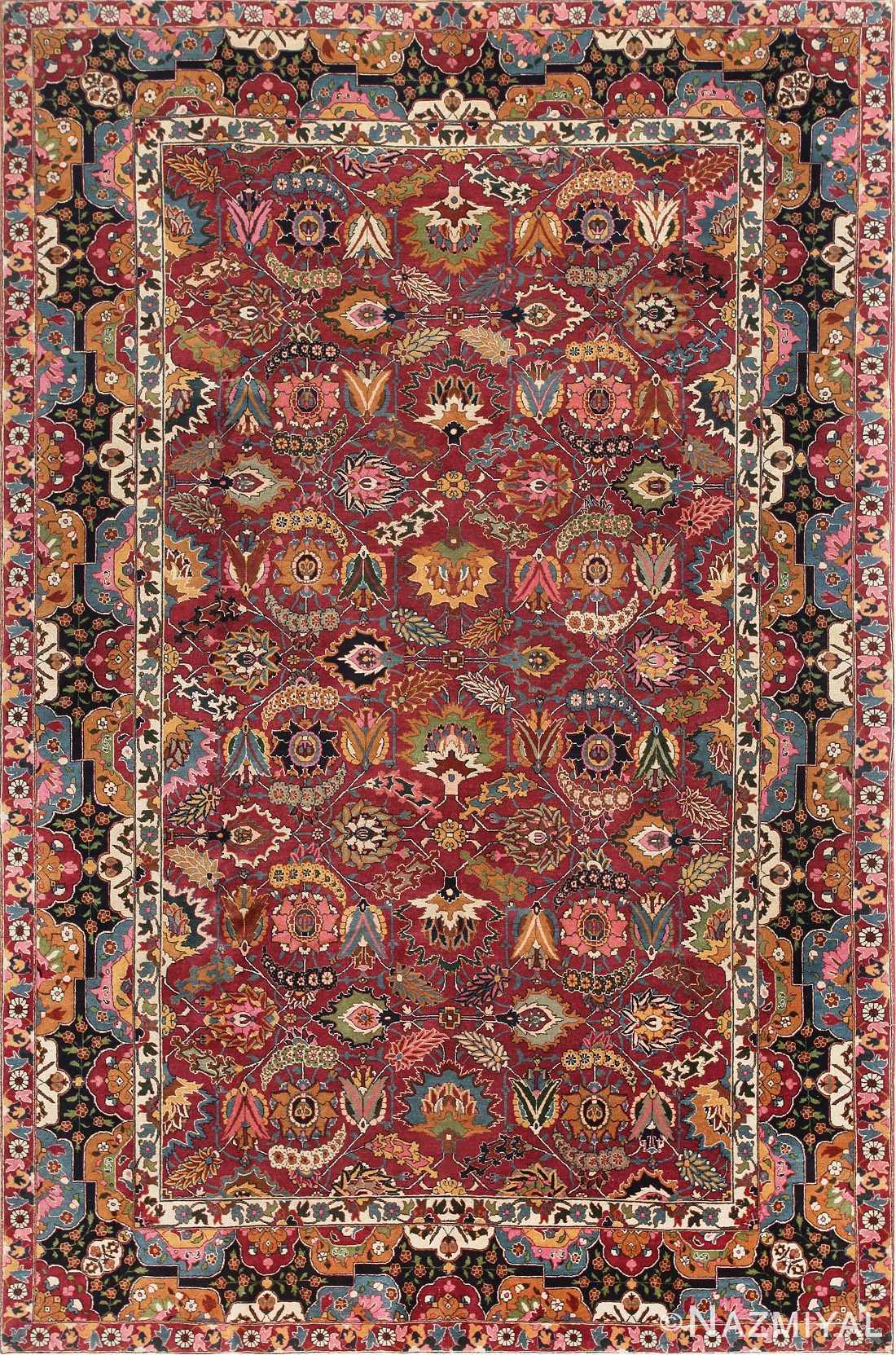 Antique Persian Tabriz Sickle Leaf Rug 47474 Detail/Large View