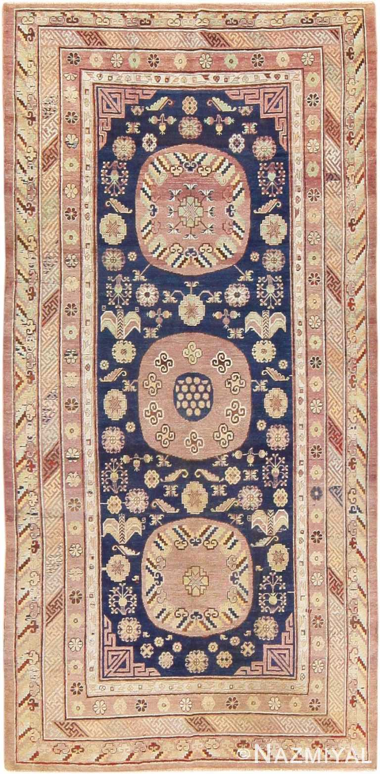 Beautiful Antique Khotan Carpet from East Turkestan 47498 Nazmiyal
