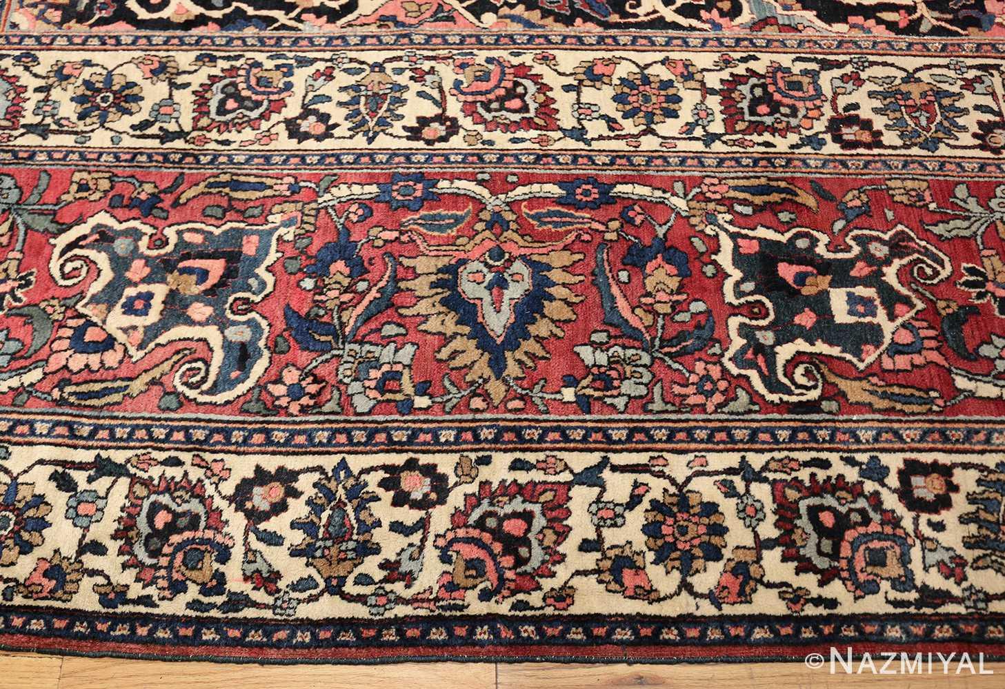 fine antique persian khorassan oversized mashad rug 47521 border Nazmiyal