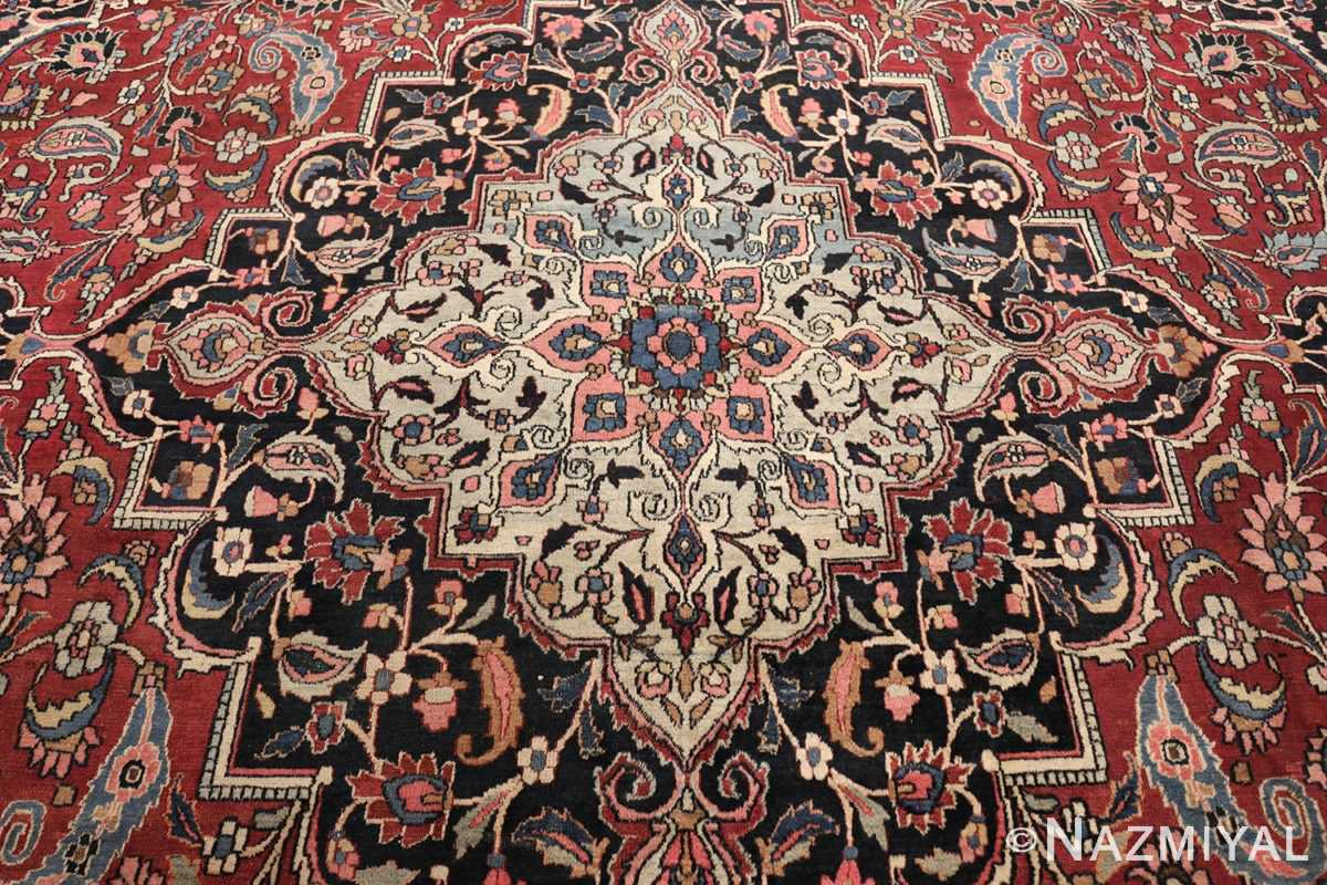 fine antique persian khorassan oversized mashad rug 47521 medallion Nazmiyal