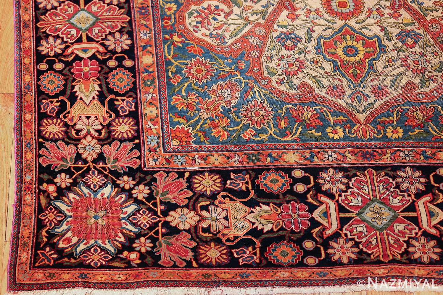 fine antique persian mohtashem kashan carpet 47197 corner Nazmiyal
