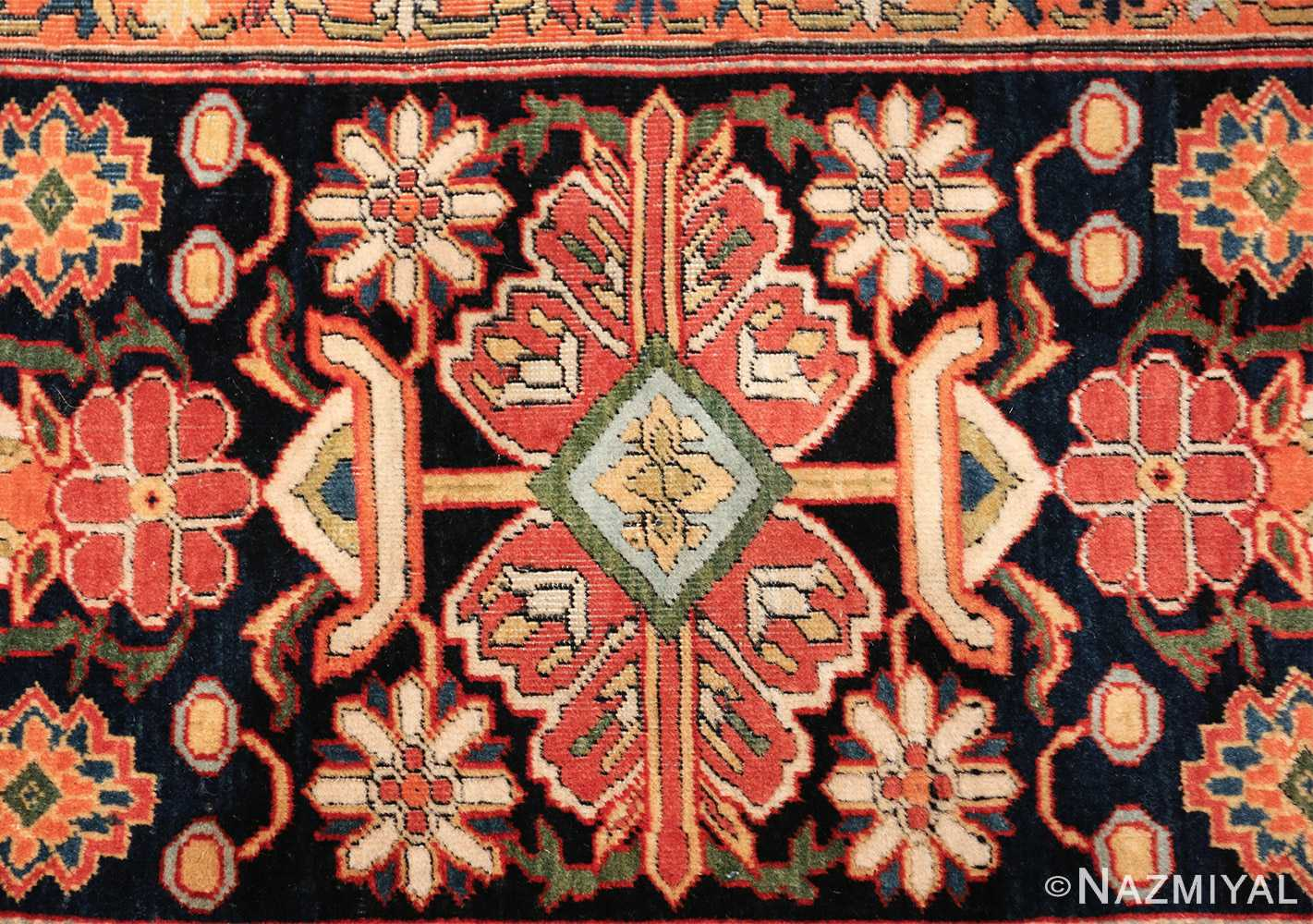 fine antique persian mohtashem kashan carpet 47197 design Nazmiyal