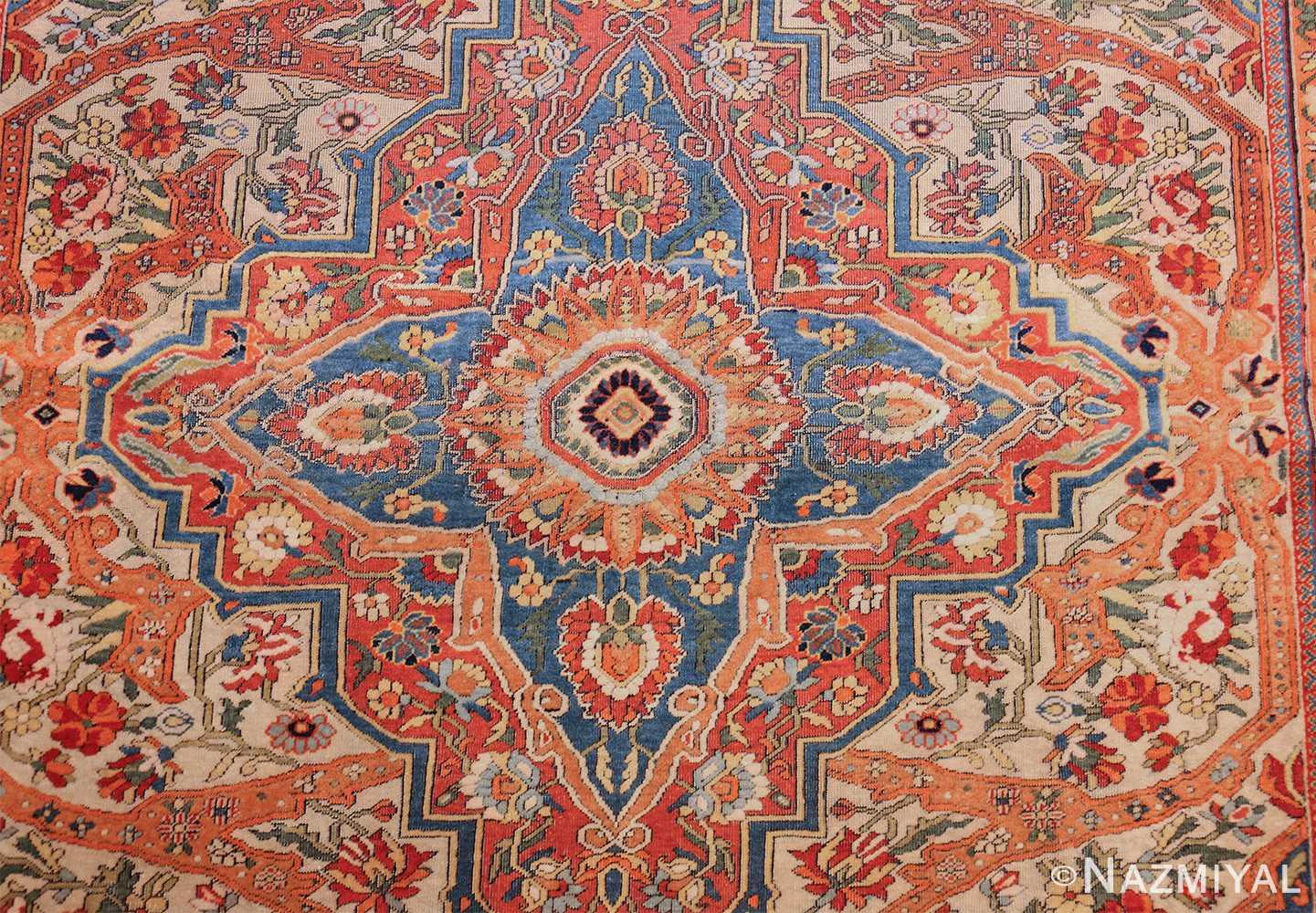 fine antique persian mohtashem kashan carpet 47197 medallion Nazmiyal