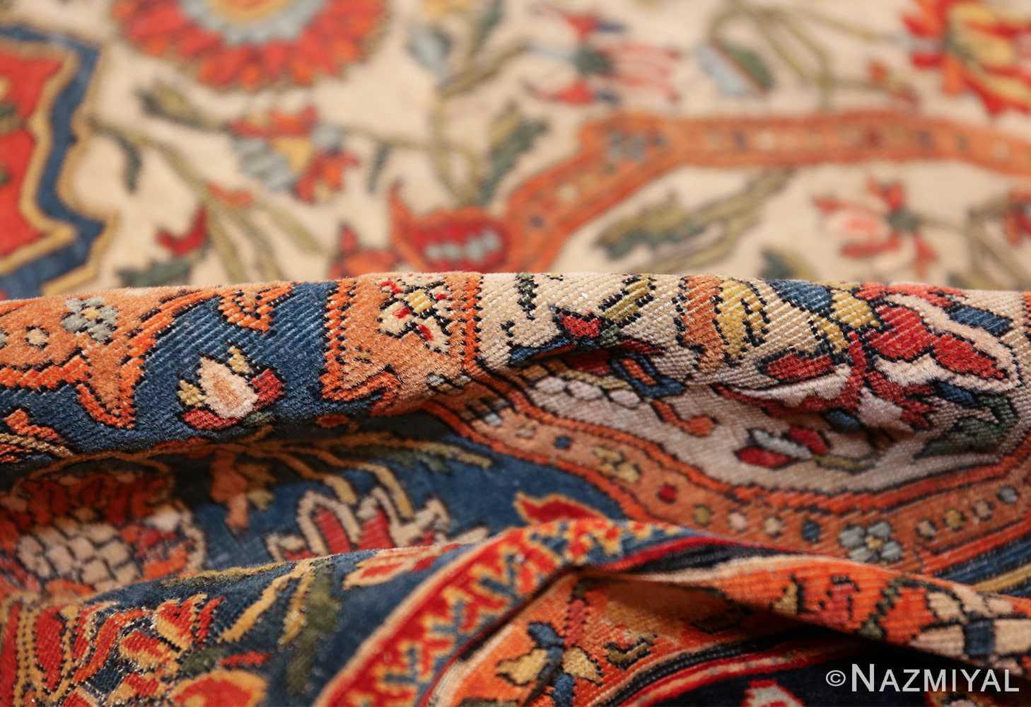 fine antique persian mohtashem kashan carpet 47197 pile Nazmiyal