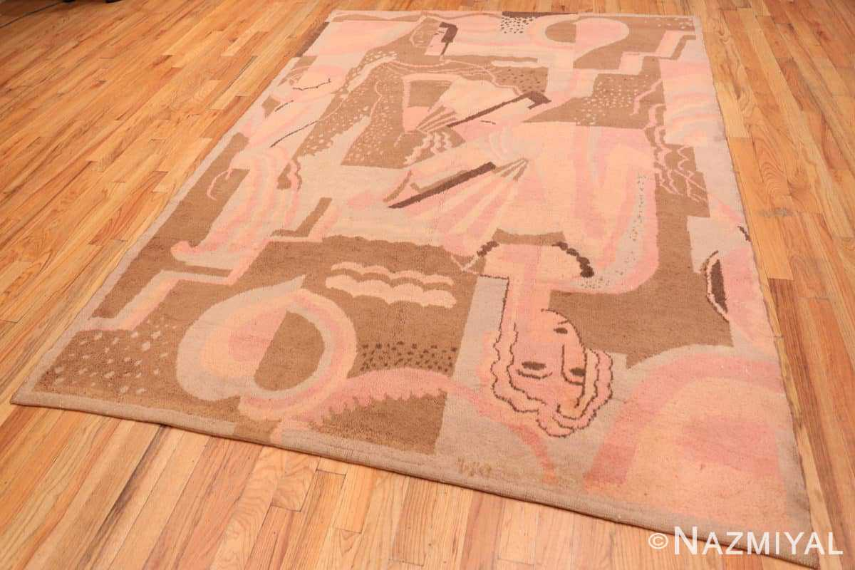 Full Vintage French Art deco carpet signed dm 47549 by Nazmiyal