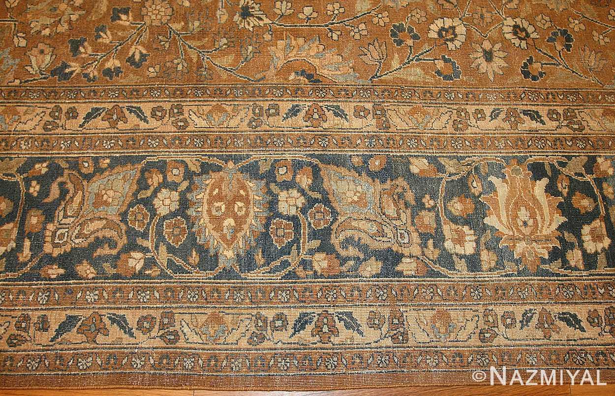 large oversize antique persian khorassan mashad carpet 47032 border Nazmiyal