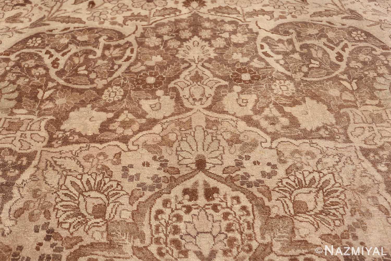 Large Oversized Antique Ivory Persian Tabriz Rug 47259 Upper Tiara Nazmiyal