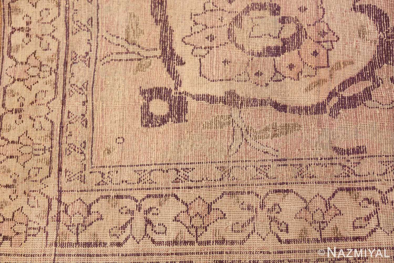 Large Oversized Antique Ivory Persian Tabriz Rug 47259 Woven Knots Nazmiyal
