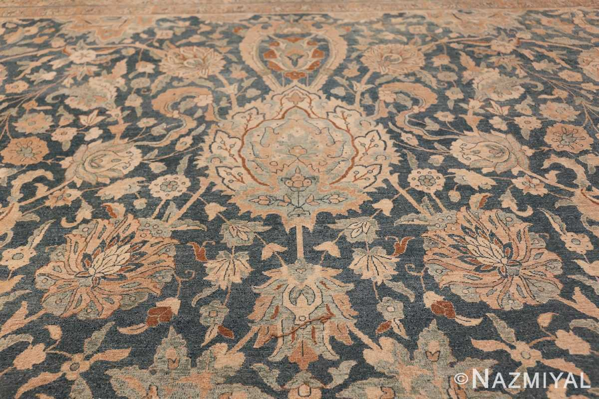 Large Oversized Blue Oriental Antique Persian Kerman Carpet 44142 Big Ivory Nazmiyal
