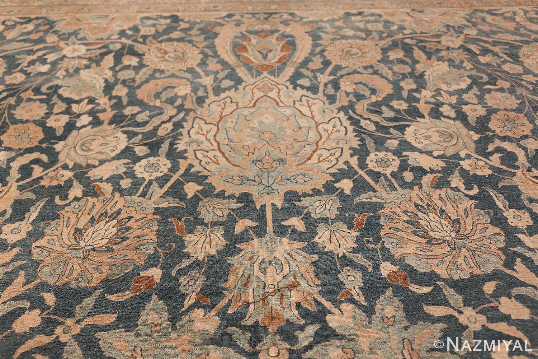 Large Oversized Blue Oriental Antique Persian Kerman Carpet 44142 Big Ivory Nazmiyal