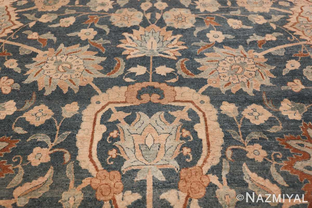 Large Oversized Blue Oriental Antique Persian Kerman Carpet 44142 Blue Flower Nazmiyal
