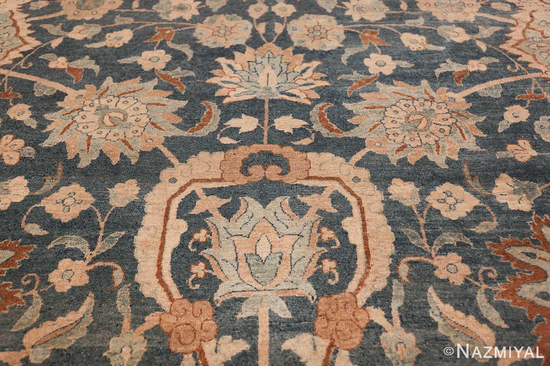 Large Oversized Blue Oriental Antique Persian Kerman Carpet 44142 Blue Flower Nazmiyal