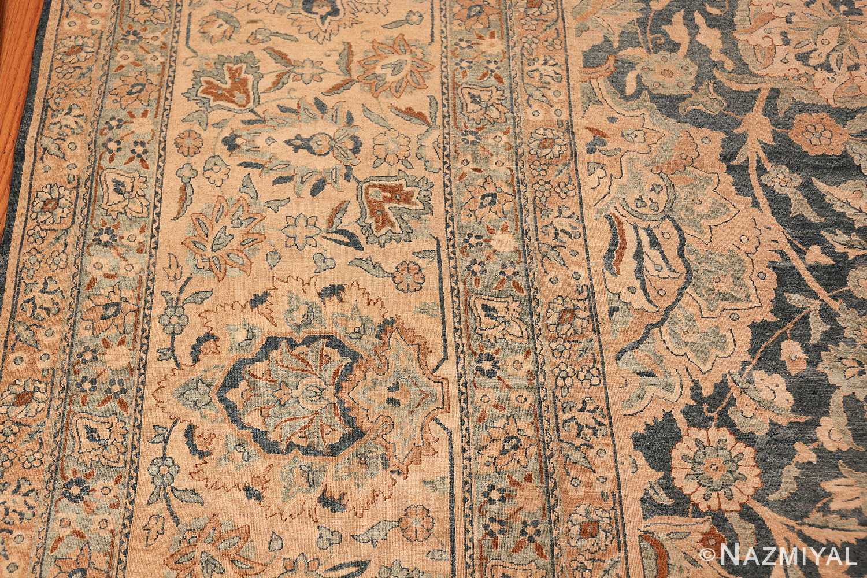 Large Oversized Blue Oriental Antique Persian Kerman Carpet 44142 Border Design Nazmiyal