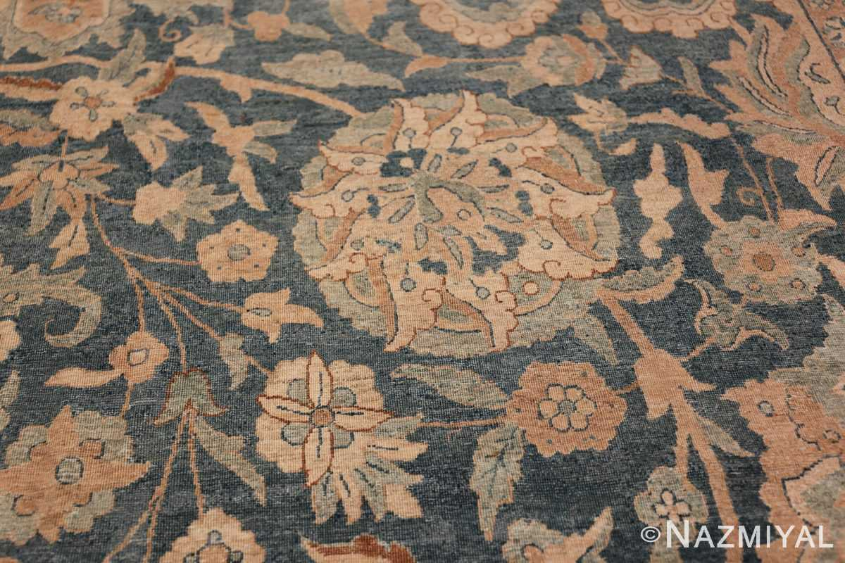 Large Oversized Blue Oriental Antique Persian Kerman Carpet 44142 Dandelion Nazmiyal