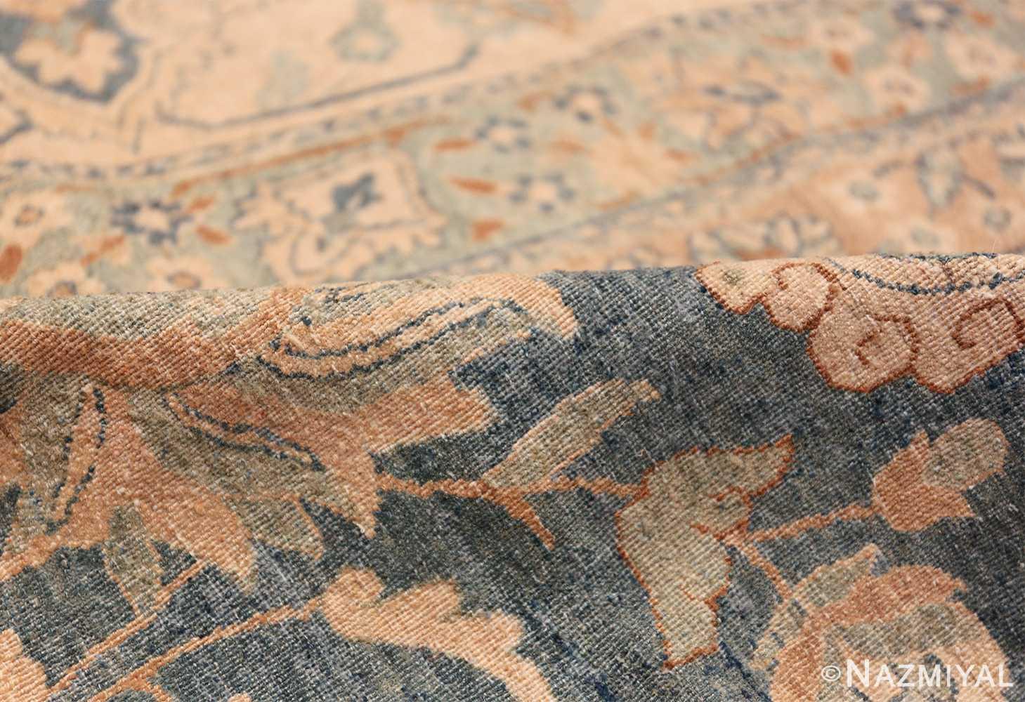 Large Oversized Blue Oriental Antique Persian Kerman Carpet 44142 Floral Pile Nazmiyal