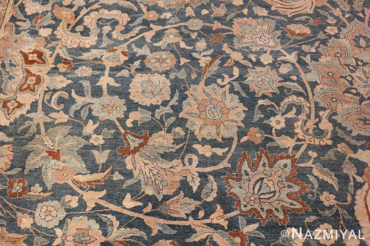 Large Oversized Blue Oriental Antique Persian Kerman Carpet 44142 Inner Scrolls Nazmiyal