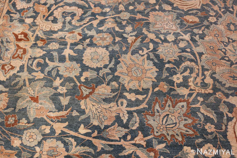 Large Oversized Blue Oriental Antique Persian Kerman Carpet 44142 Inner Scrolls Nazmiyal