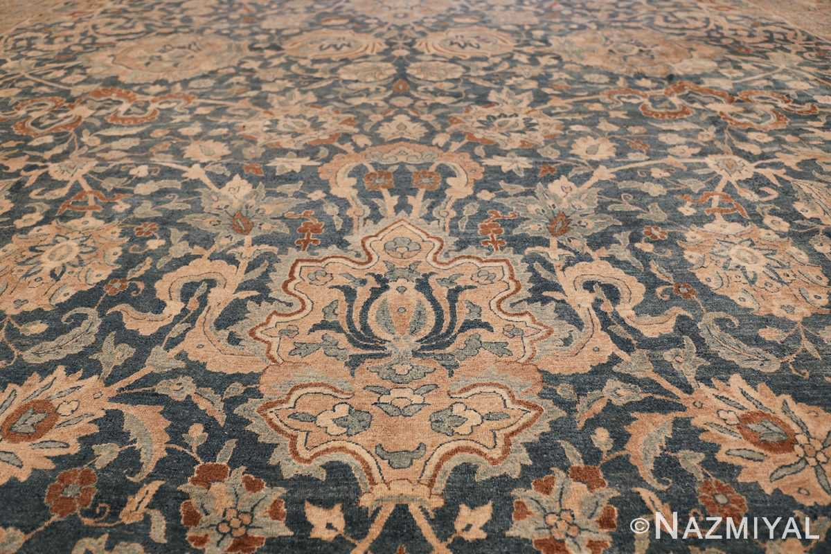 Large Oversized Blue Oriental Antique Persian Kerman Carpet 44142 Lower Medallion Nazmiyal