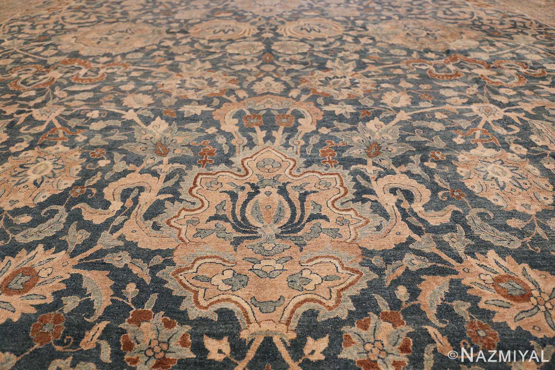 Large Oversized Blue Oriental Antique Persian Kerman Carpet 44142 Lower Medallion Nazmiyal