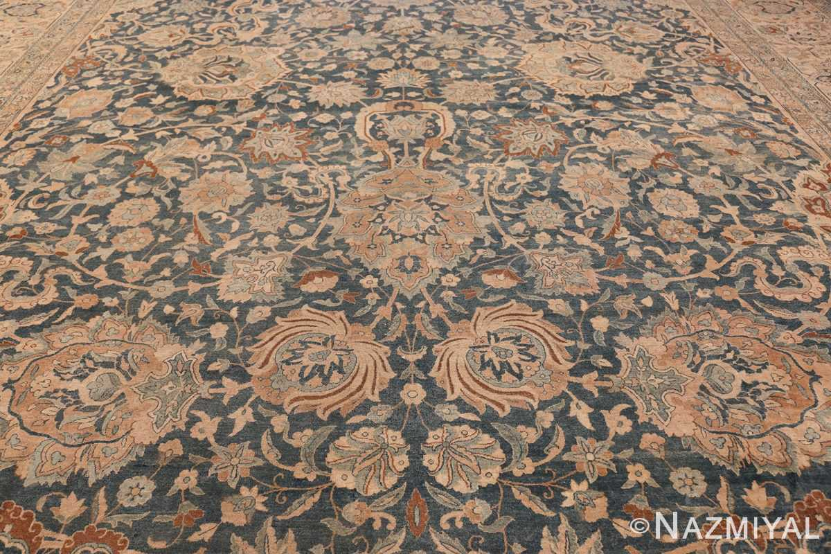 Large Oversized Blue Oriental Antique Persian Kerman Carpet 44142 Middle Field Nazmiyal