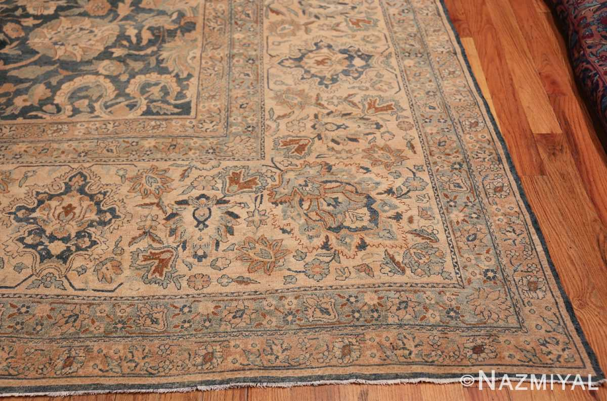 Large Oversized Blue Oriental Antique Persian Kerman Carpet 44142 Side Corner Nazmiyal