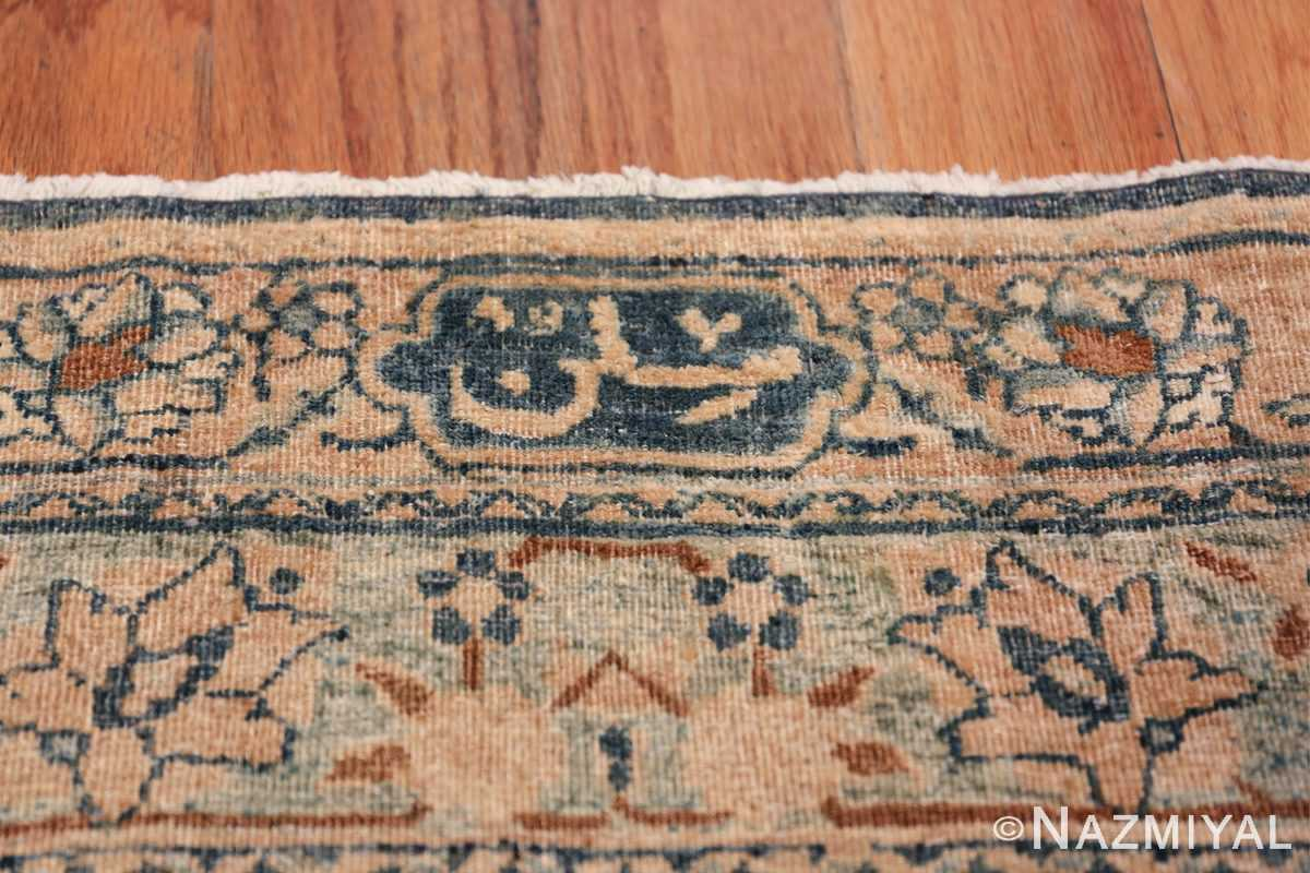 Large Oversized Blue Oriental Antique Persian Kerman Carpet 44142 Signature Sign Nazmiyal
