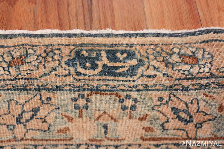Large Oversized Blue Oriental Antique Persian Kerman Carpet 44142 Signature Sign Nazmiyal