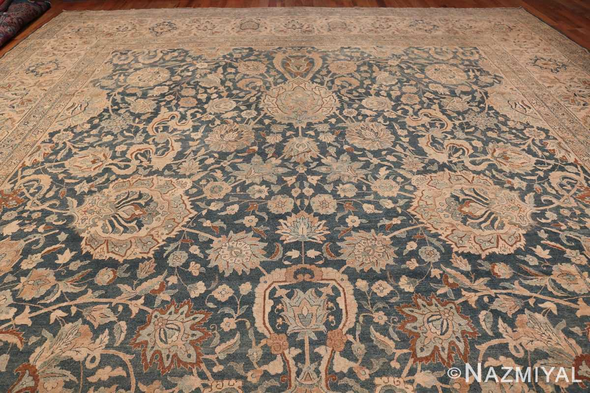 Large Oversized Blue Oriental Antique Persian Kerman Carpet 44142 Top Design Nazmiyal