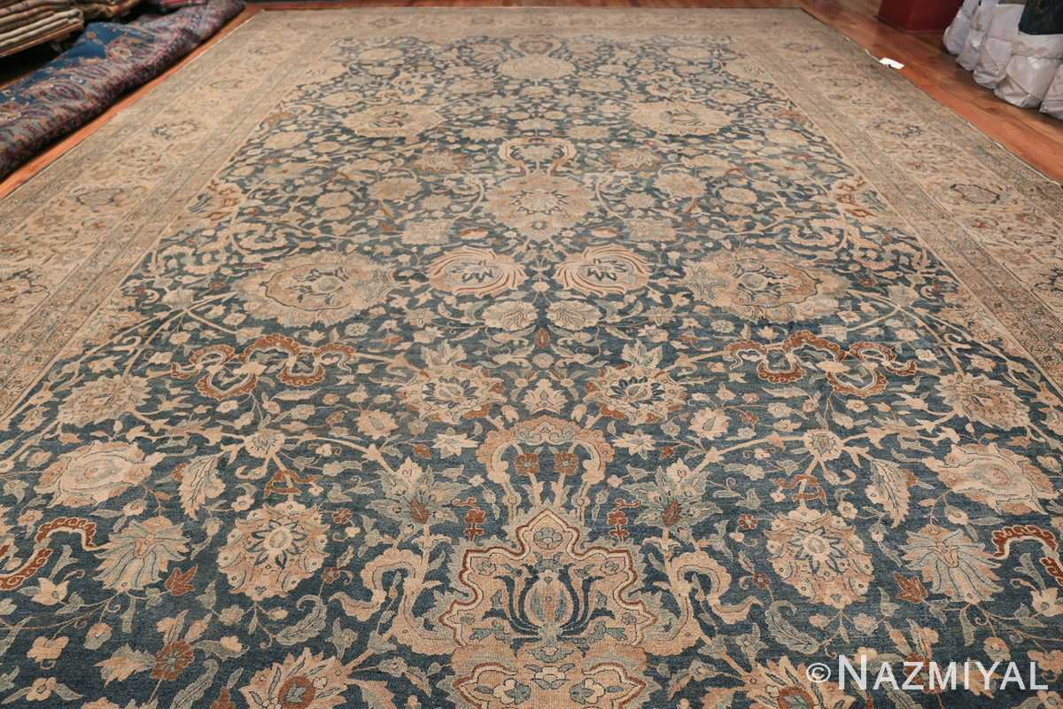 Large Oversized Blue Oriental Antique Persian Kerman Carpet 44142 Whole Design Nazmiyal