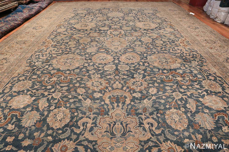 Large Oversized Blue Oriental Antique Persian Kerman Carpet 44142 Whole Design Nazmiyal