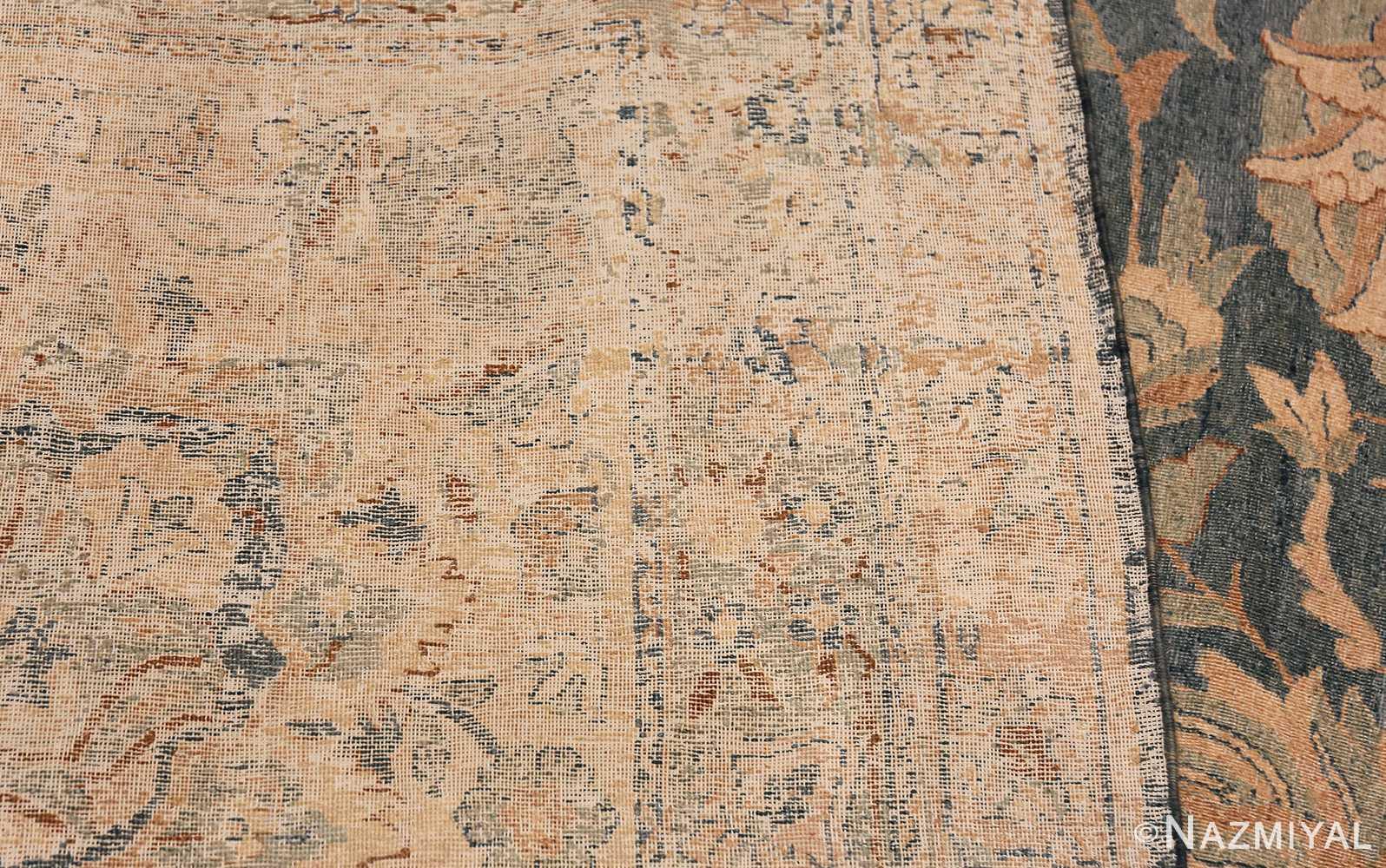 Large Oversized Blue Oriental Antique Persian Kerman Carpet 44142 Woven Knots Nazmiyal