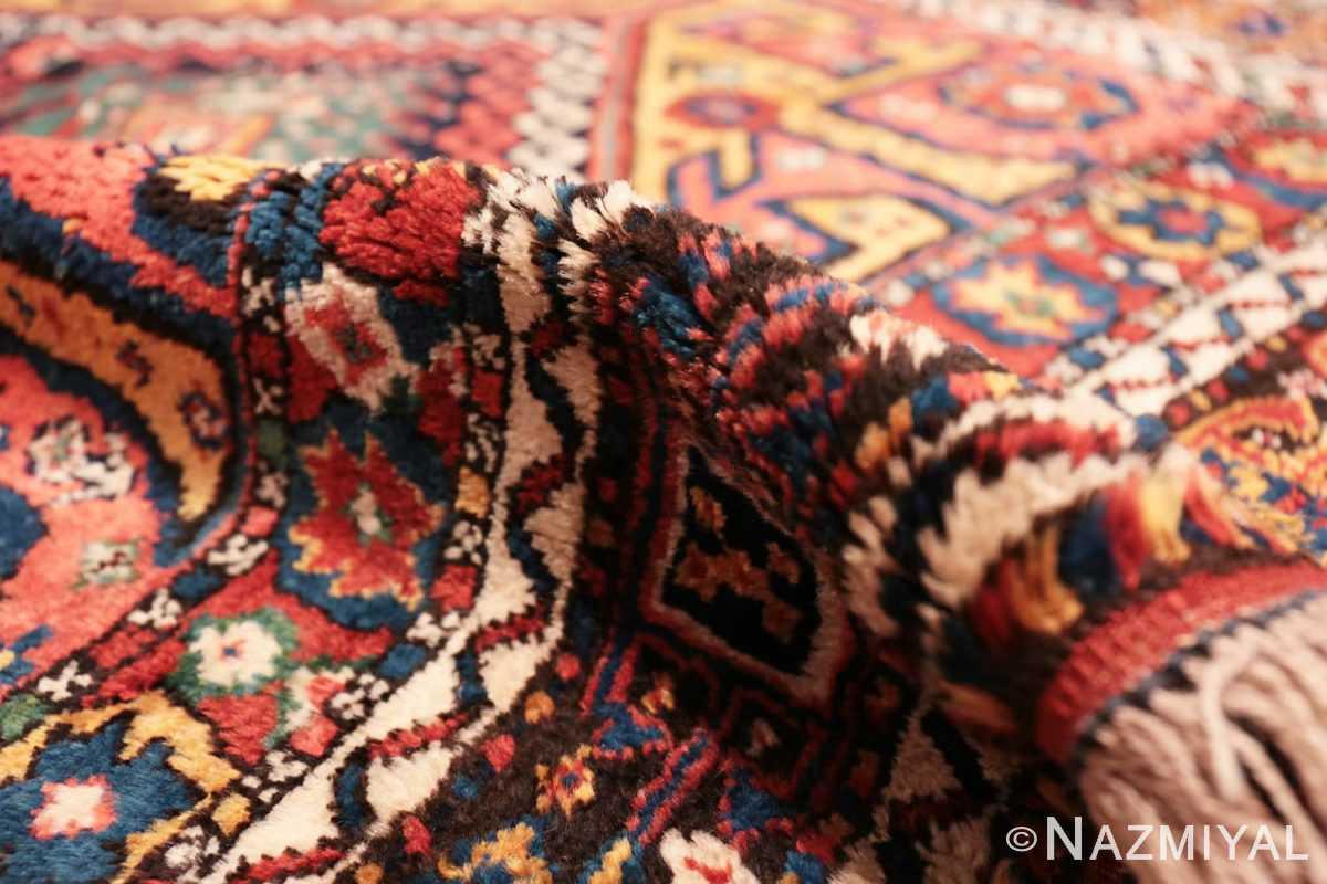 Pile Colorful Eagle Kazak design Antique Tribal Persian Kurdish rug 47471 by Nazmiyal