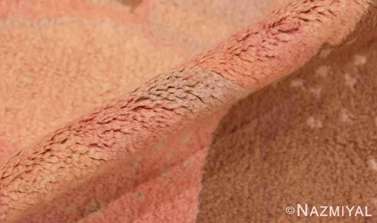 Pile Vintage French Art deco carpet signed dm 47549 by Nazmiyal