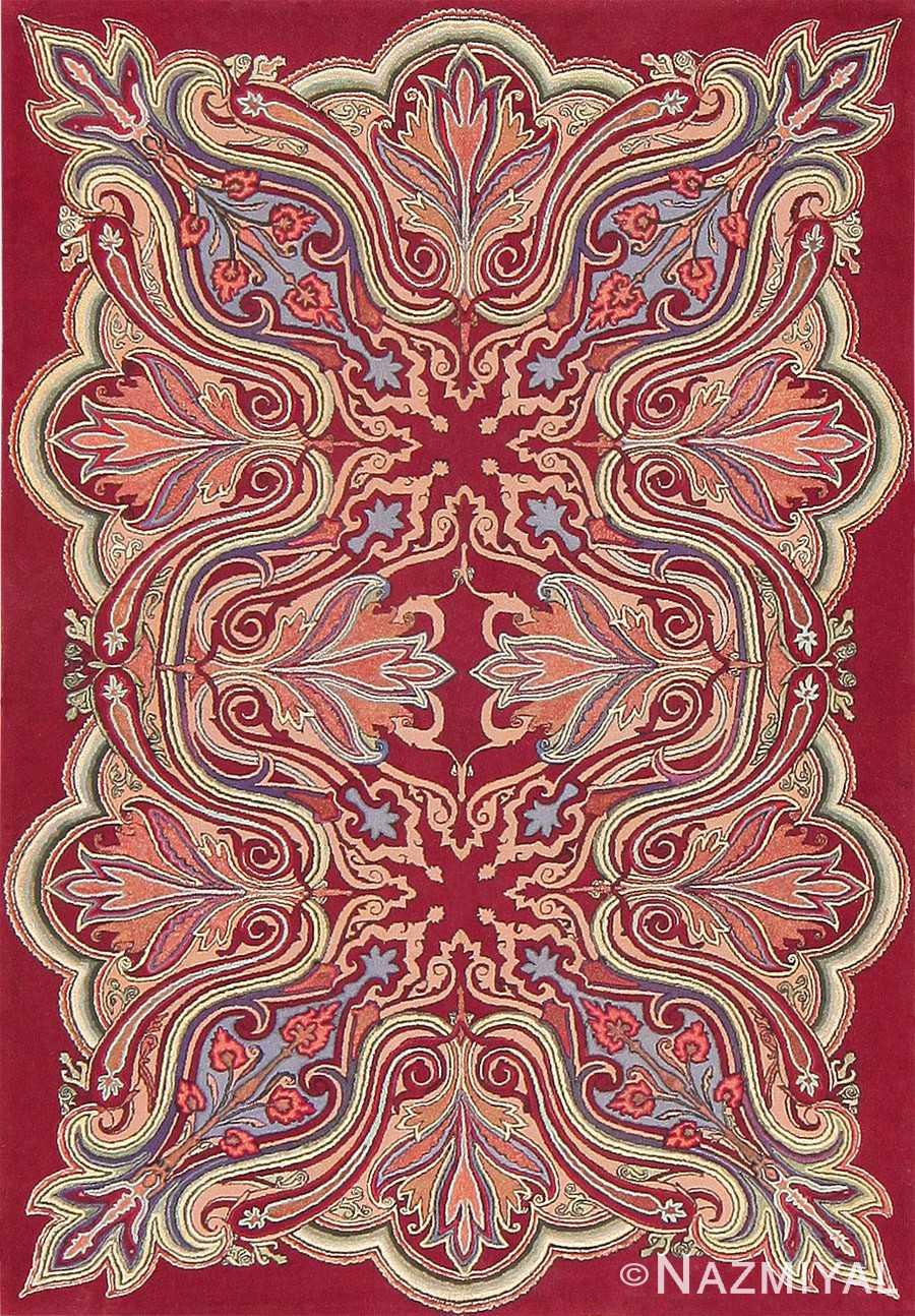 Rare Antique Art Nouveau American Hooked Rug 47491 Detail/Large View