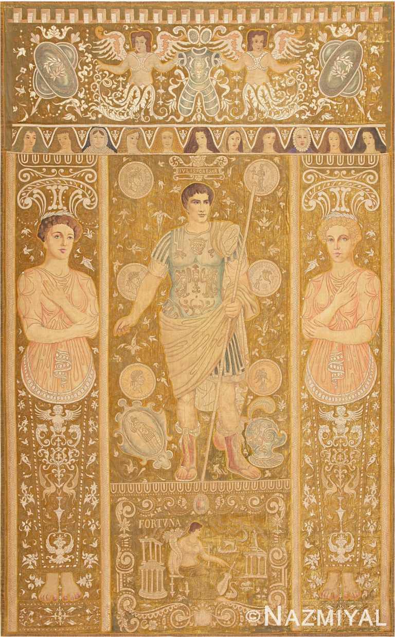 Rare Italian Tapestry Depicting Roman Emperor Julius Caesar 47325 Large Image Nazmiyal