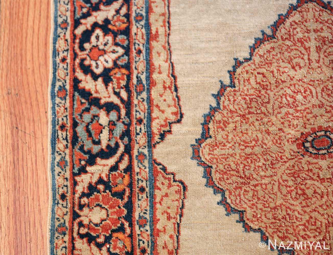 Small Antique Persian Tabriz Scatter Size Carpet 47482 Border Part Nazmiyal