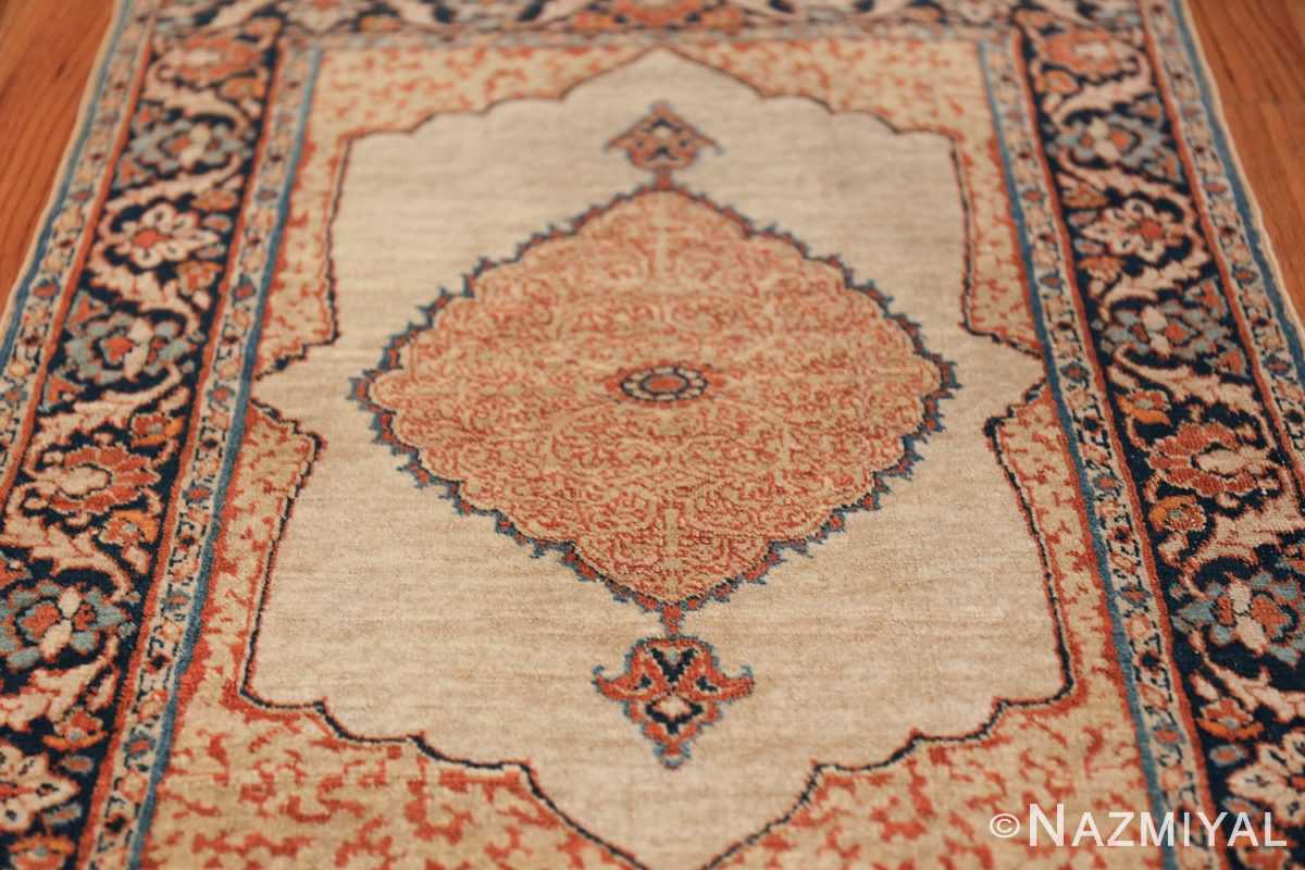 Small Antique Persian Tabriz Scatter Size Carpet 47482 Field Design Nazmiyal