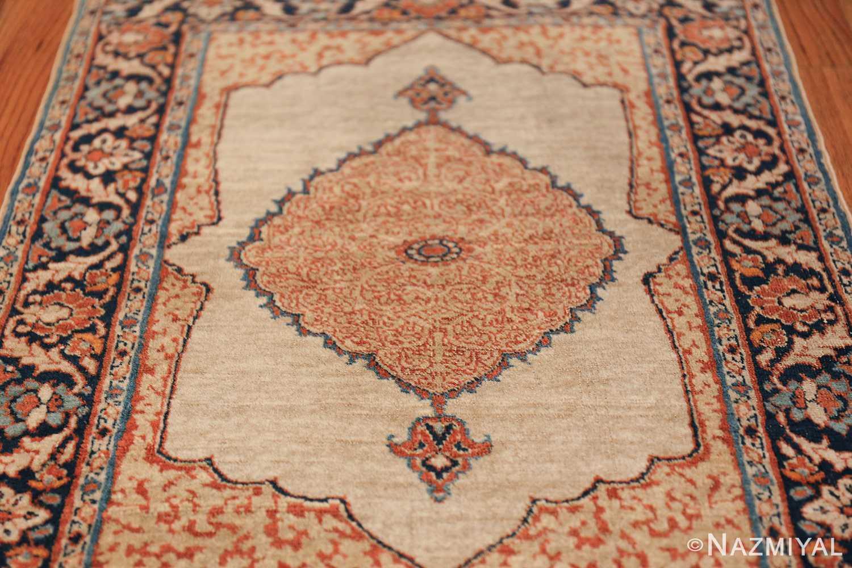 Small Antique Persian Tabriz Scatter Size Carpet 47482 Field Design Nazmiyal
