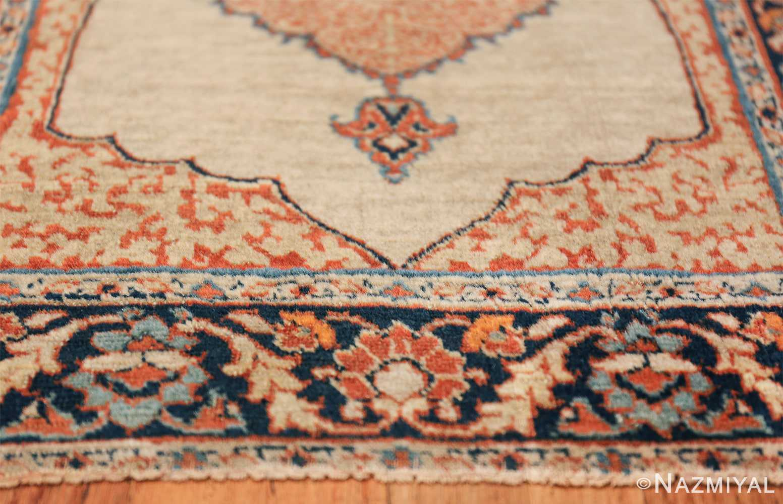Small Antique Persian Tabriz Scatter Size Carpet 47482 Lower Border Nazmiyal