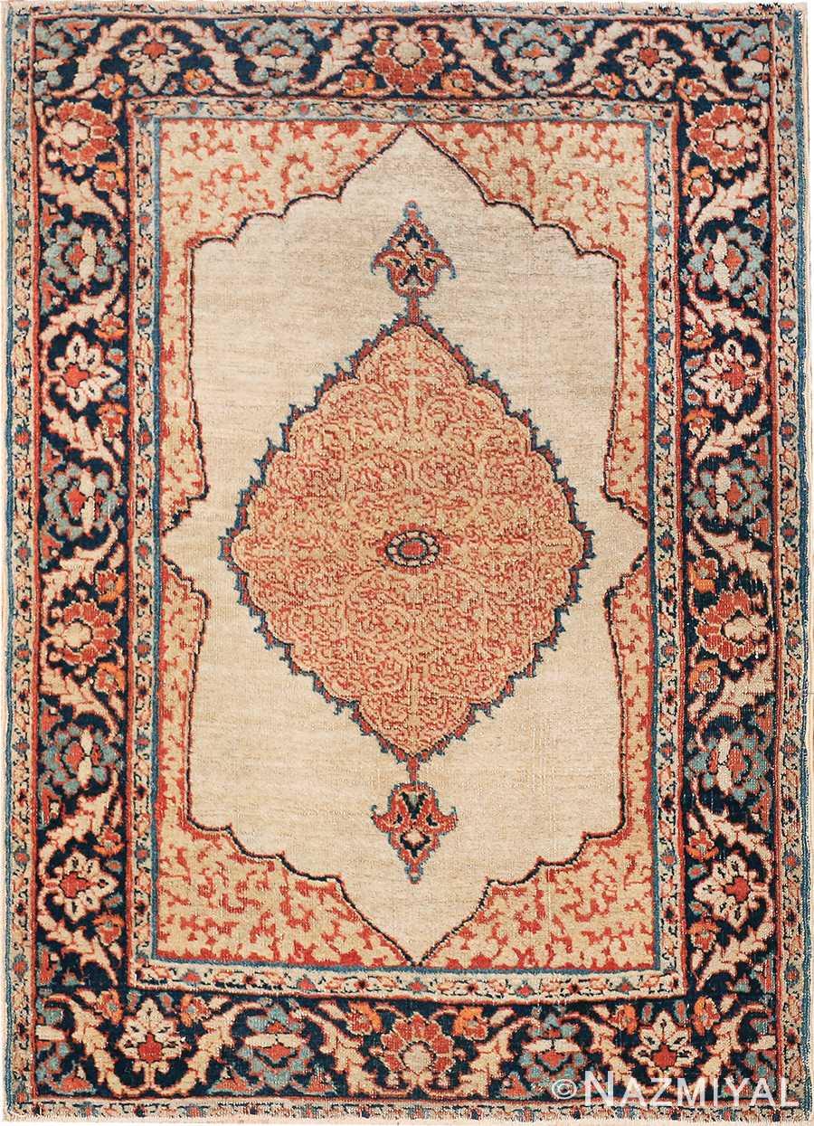 Small Antique Persian Tabriz Scatter Size Carpet 47482 Nazmiyal