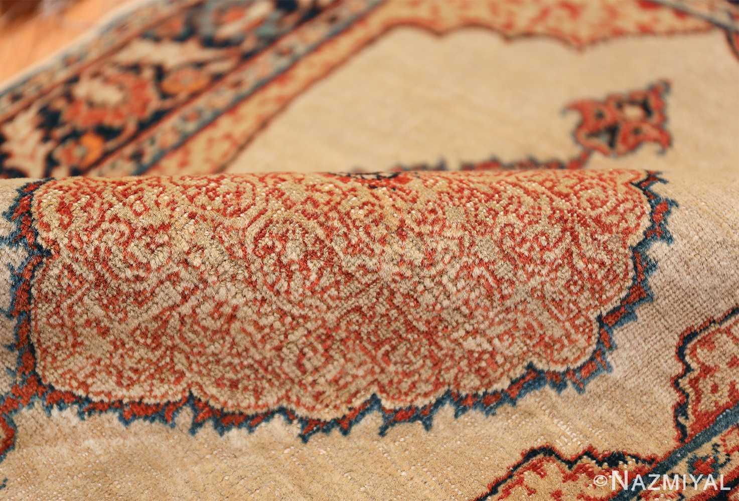Small Antique Persian Tabriz Scatter Size Carpet 47482 Shiny Pile Nazmiyal