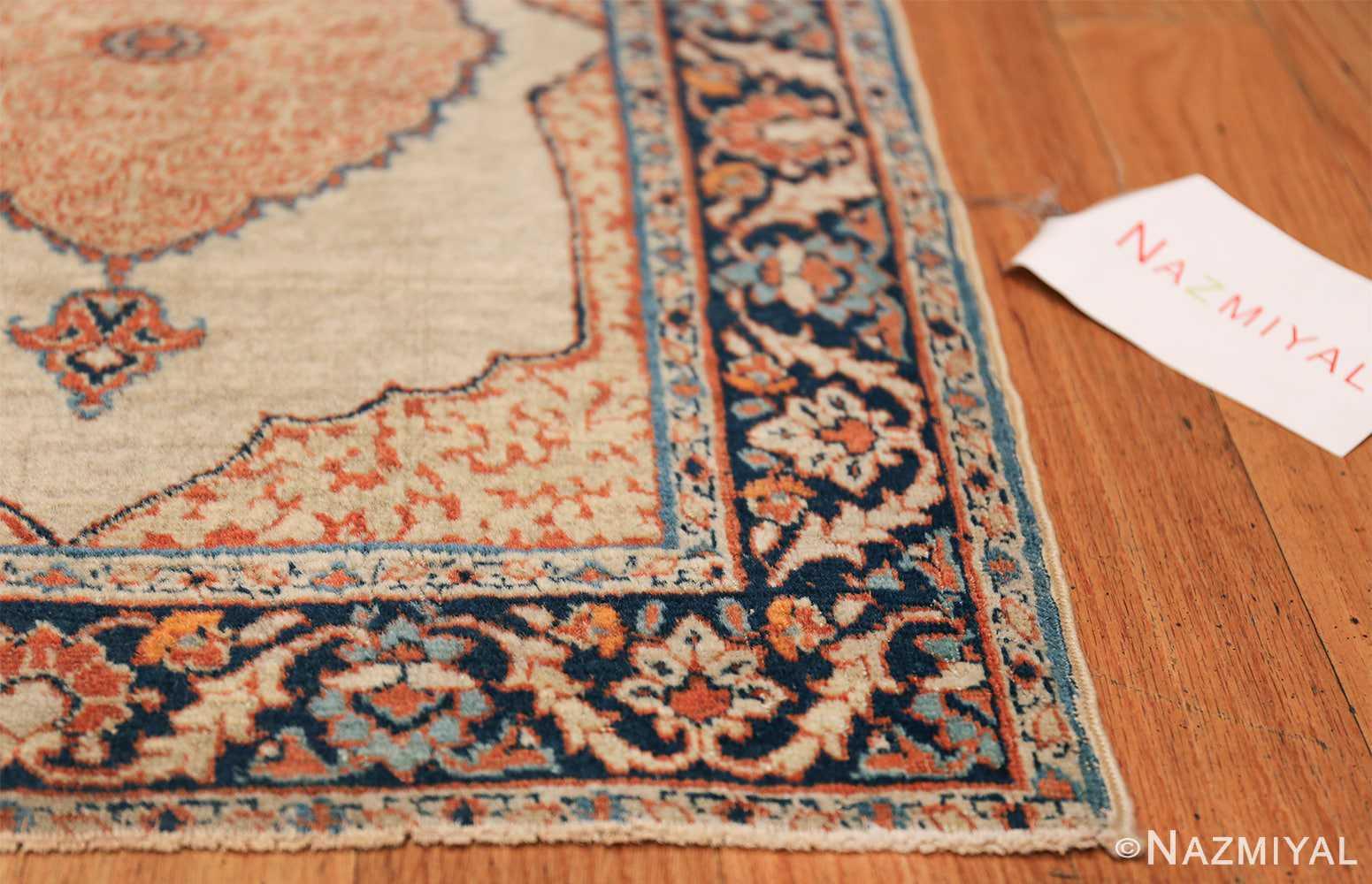 Small Antique Persian Tabriz Scatter Size Carpet 47482 Side Corner Nazmiyal